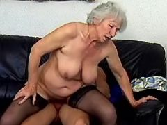Old lady in stockings crazy fucks in every poses
