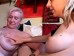 Mom and girl have a fun with man