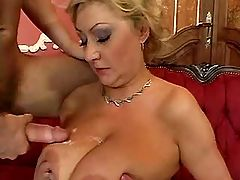 Busty mature fucks in hotel suite