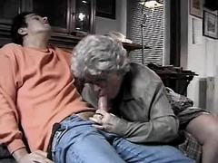 Granny does hot blowjob n has fuck
