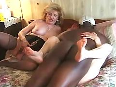 Black guy fucks naughty old whores by turns